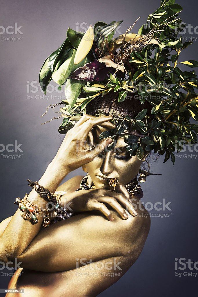 Gold Woman royalty-free stock photo