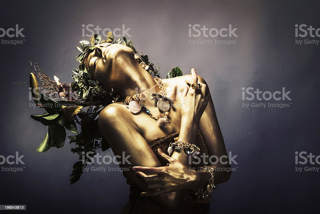 Gold Woman stock photo
