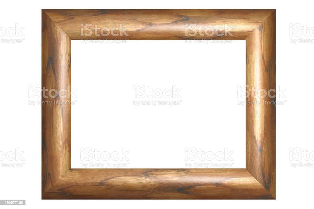 Gold wooden old Frame #3 stock photo