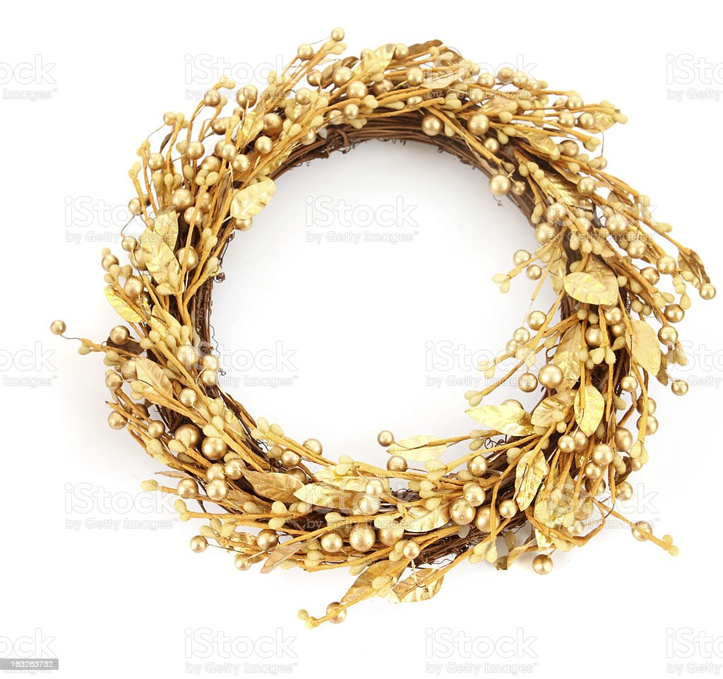 Gold Wreath stock photo