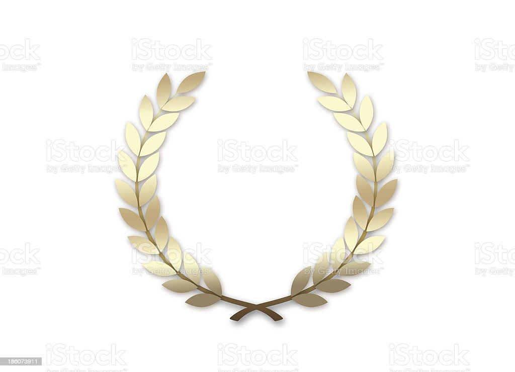 Gold Wreath royalty-free stock photo