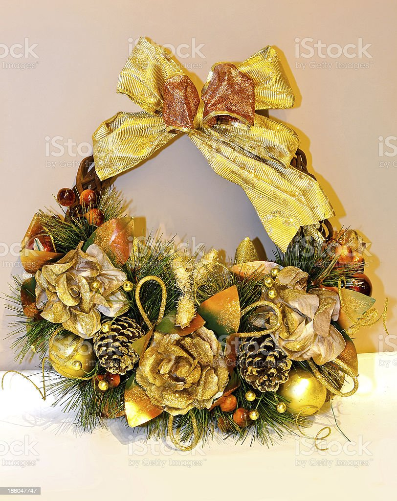 Gold wreath royalty-free stock photo