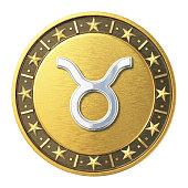 Gold Zodiac Signs - Taurus