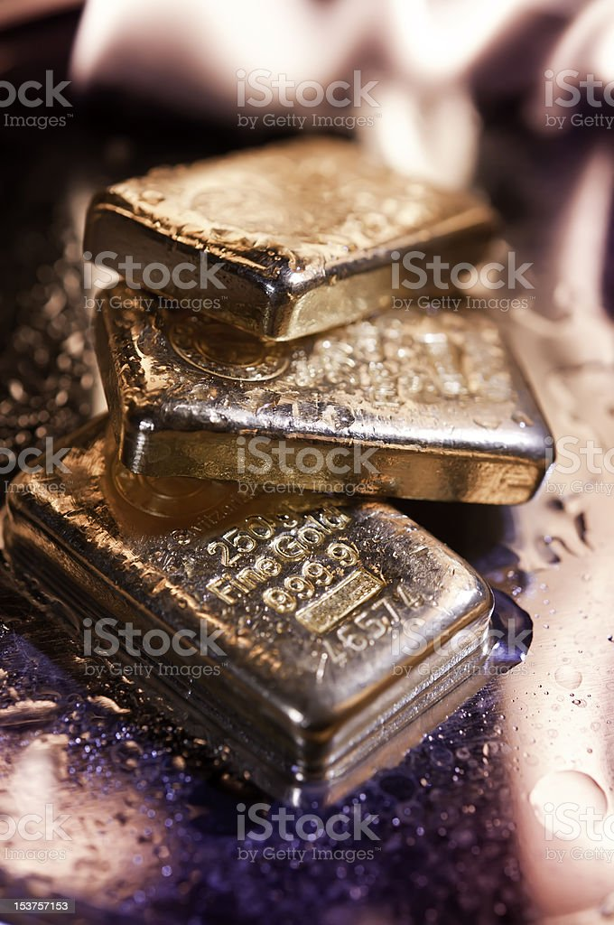 goldbars  and  flame stock photo