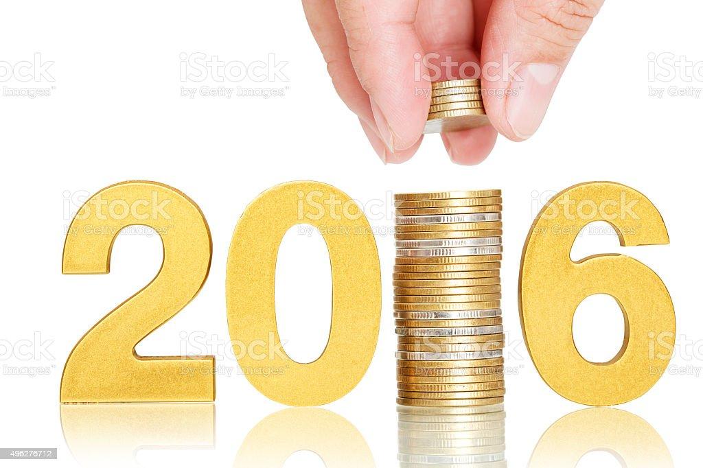 golden 2016,investor concept stock photo