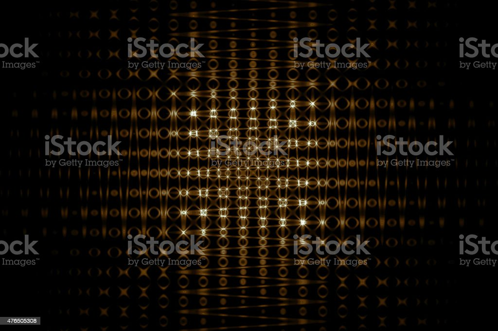 golden abstract background with futuristic grid texture stock photo
