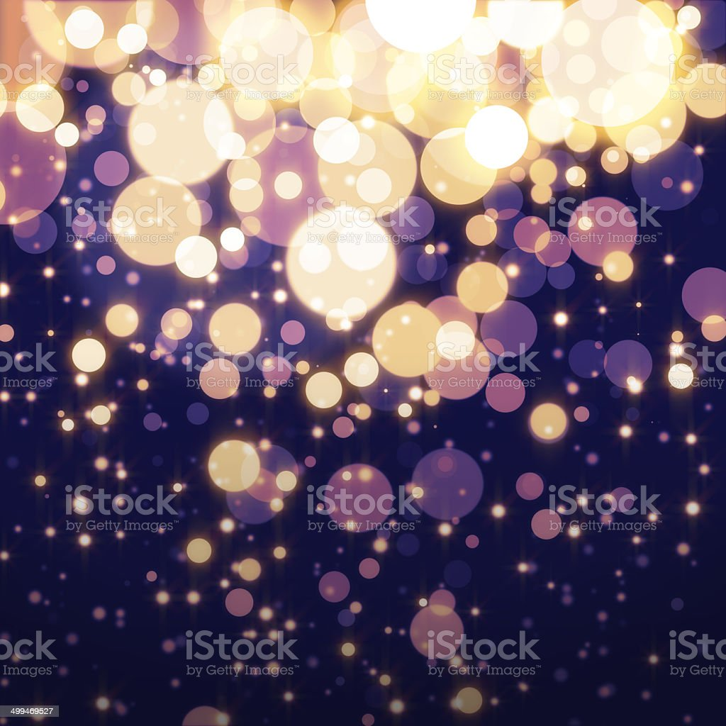 Golden Abstract Bokeh light Background stock photo