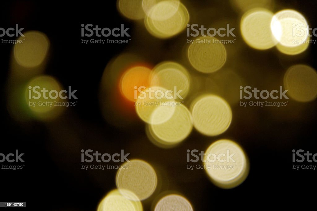 golden abstract light spots stock photo