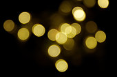 golden abstract light spots