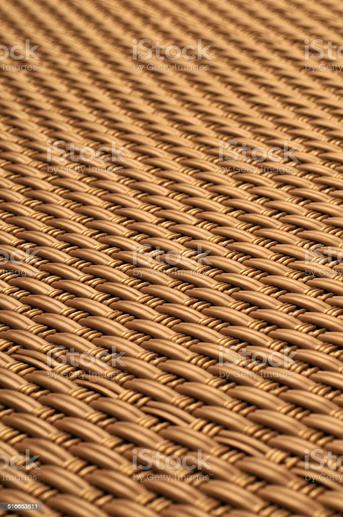 Golden Abstract woven straw wicker background texture stock photo