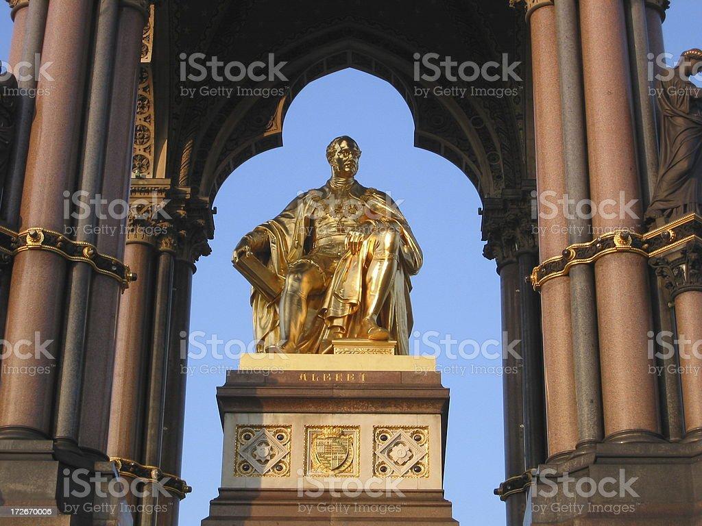Golden Albert Memorial royalty-free stock photo