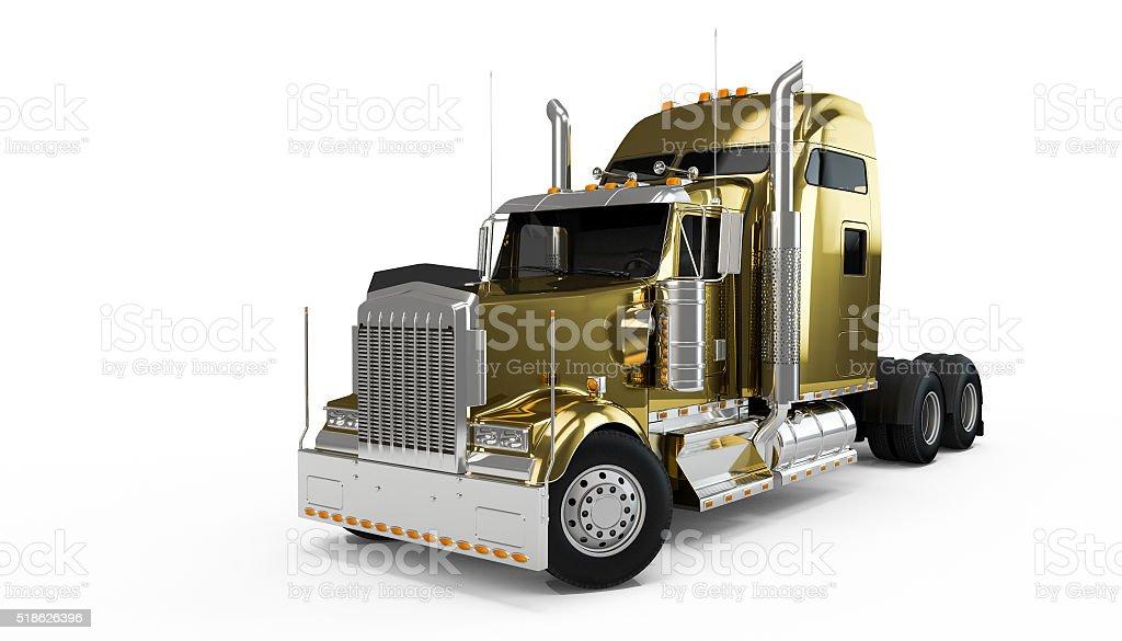 Golden american truck stock photo