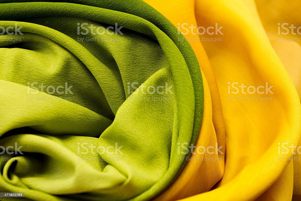 Golden and green textile royalty-free stock photo