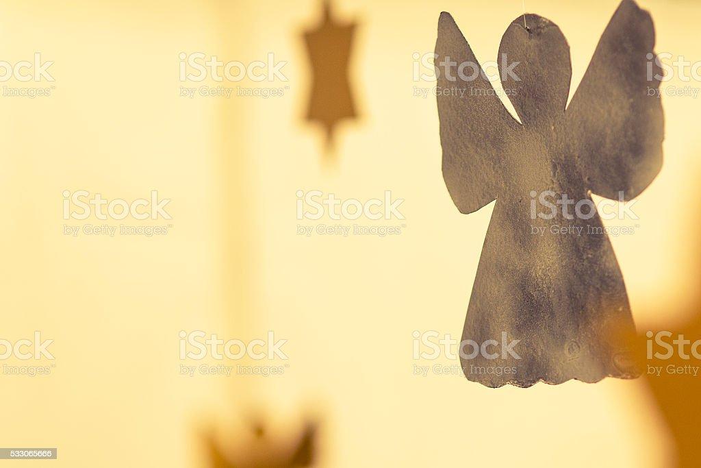golden angel - christmas decoration stock photo