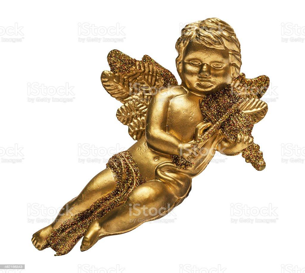 Golden angel stock photo