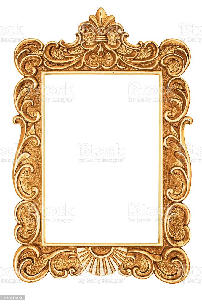 Golden antique frame stock photo