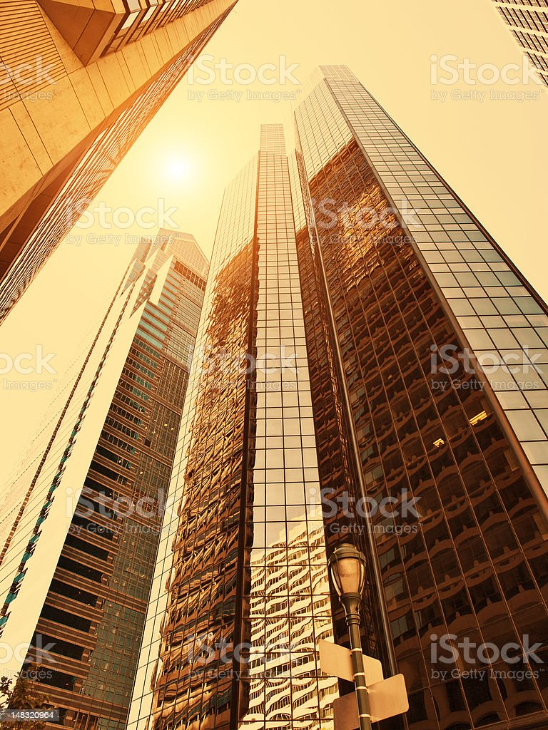 Golden Architecture stock photo
