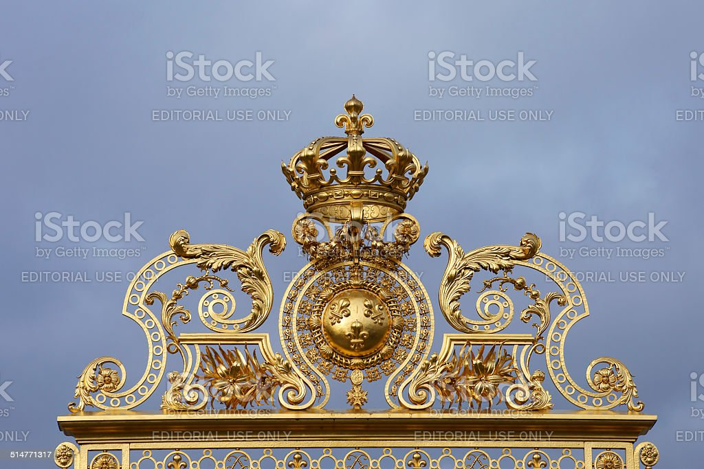 Golden archway stock photo