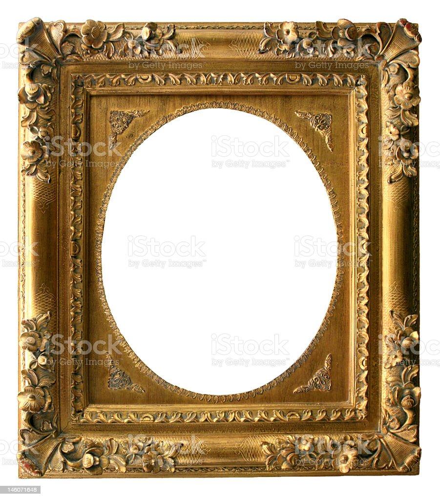 Golden Art Frame stock photo