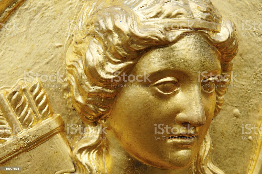 Golden Artemis stock photo