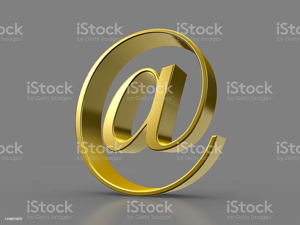 Golden At Sign royalty-free stock photo