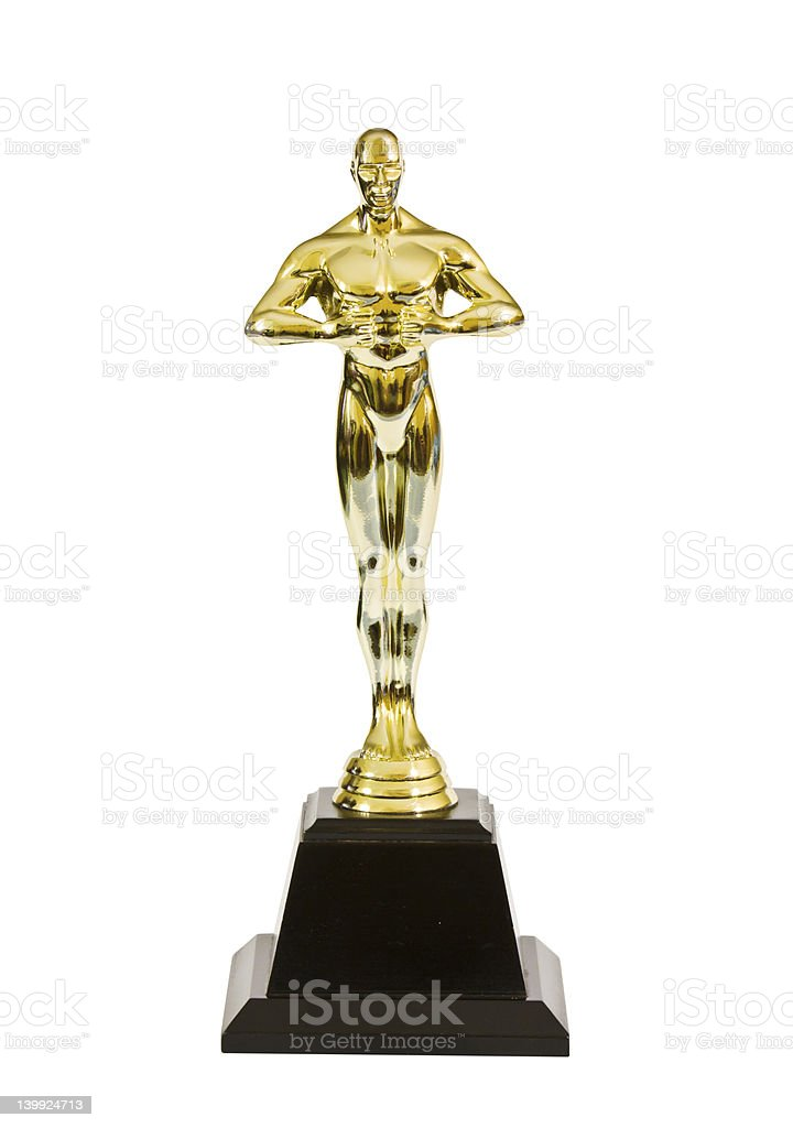 Golden award stock photo