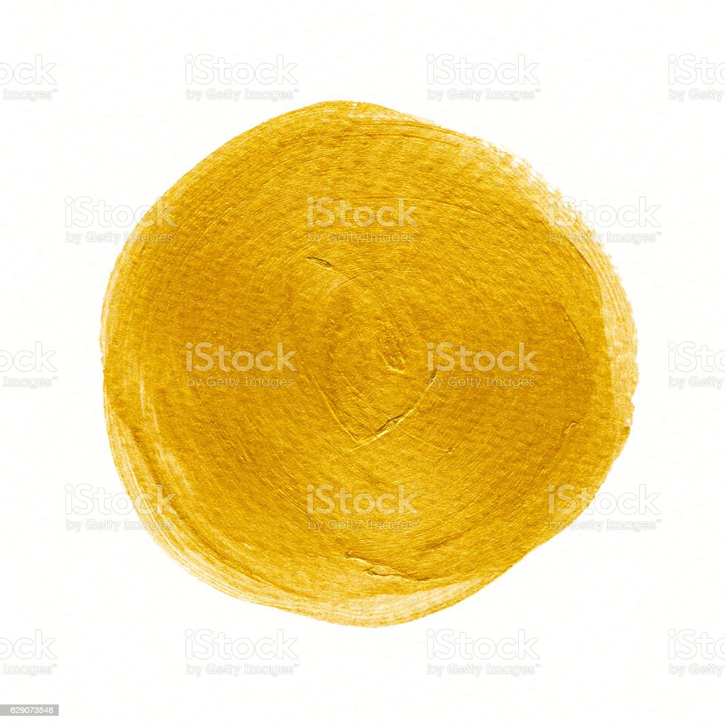 Golden background. Abstract gold color circle watercolor. stock photo