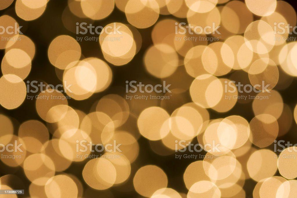 Golden background Lights royalty-free stock photo