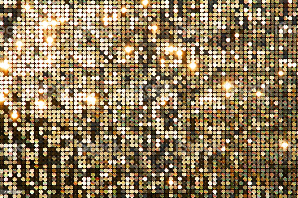Golden background mosaic with light spots stock photo