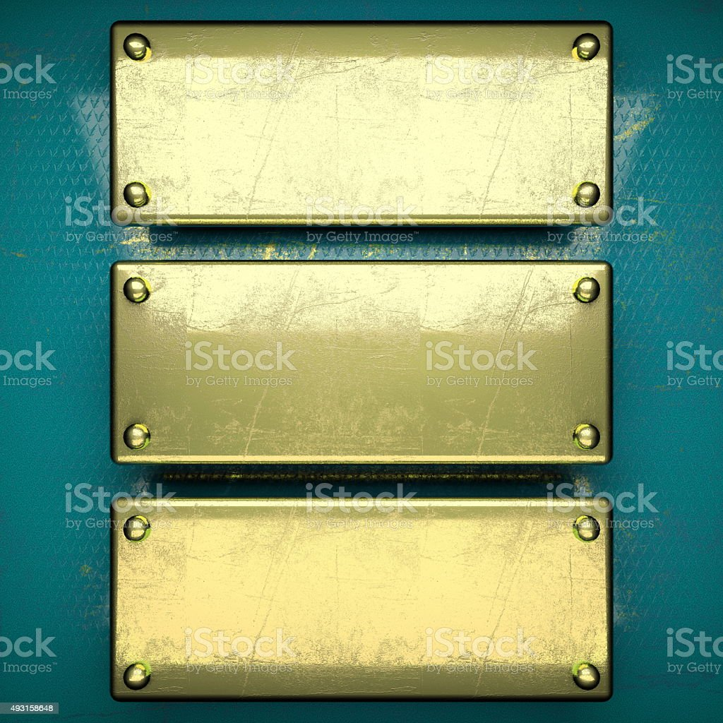 golden background painted in blue stock photo