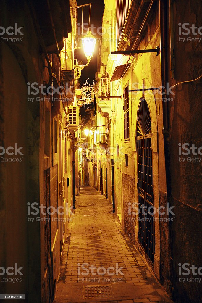 golden backstreet royalty-free stock photo