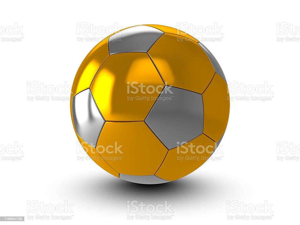 Golden ball royalty-free stock photo