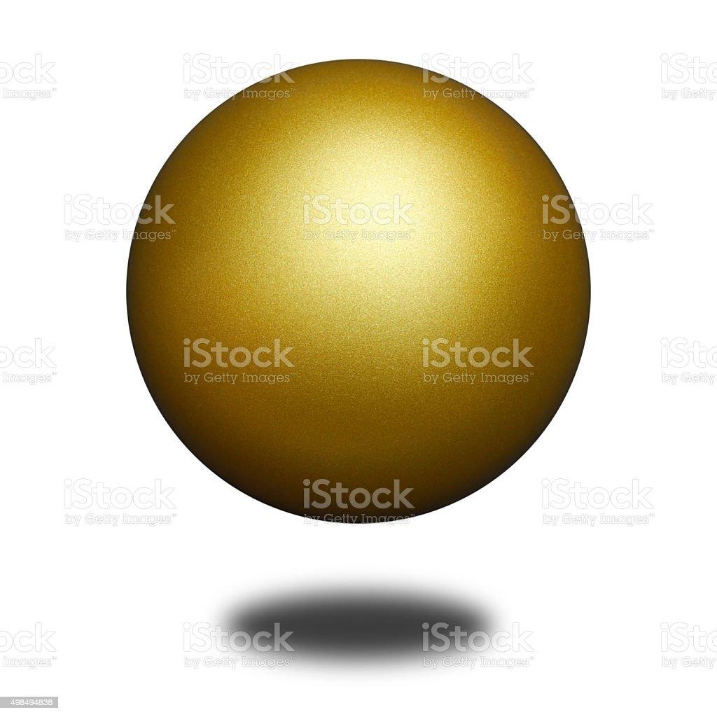 Golden Ball stock photo