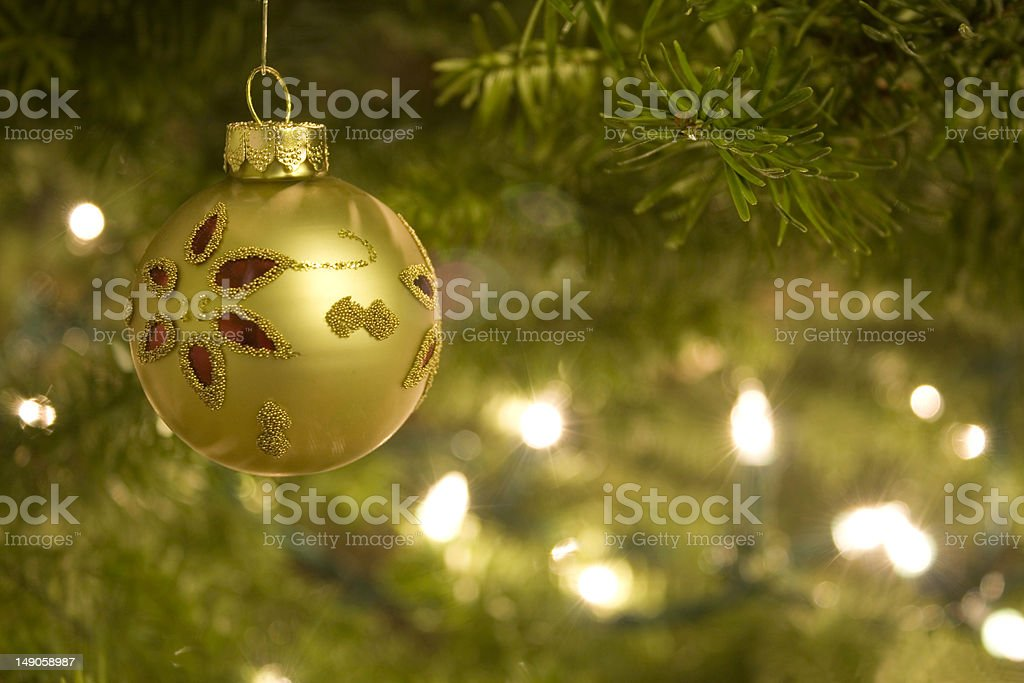 Golden Bauble royalty-free stock photo