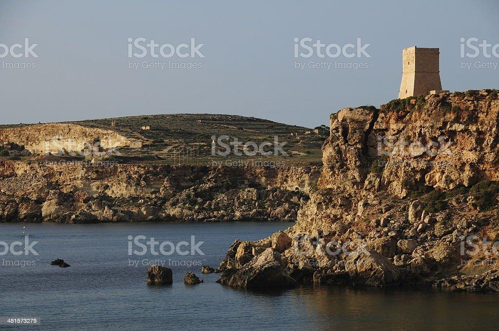 Golden Bay, Maltese Islands. royalty-free stock photo
