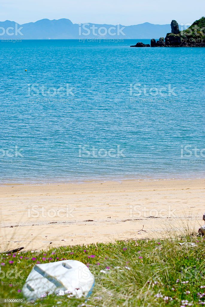 Golden Bay Seascape, New Zealand stock photo