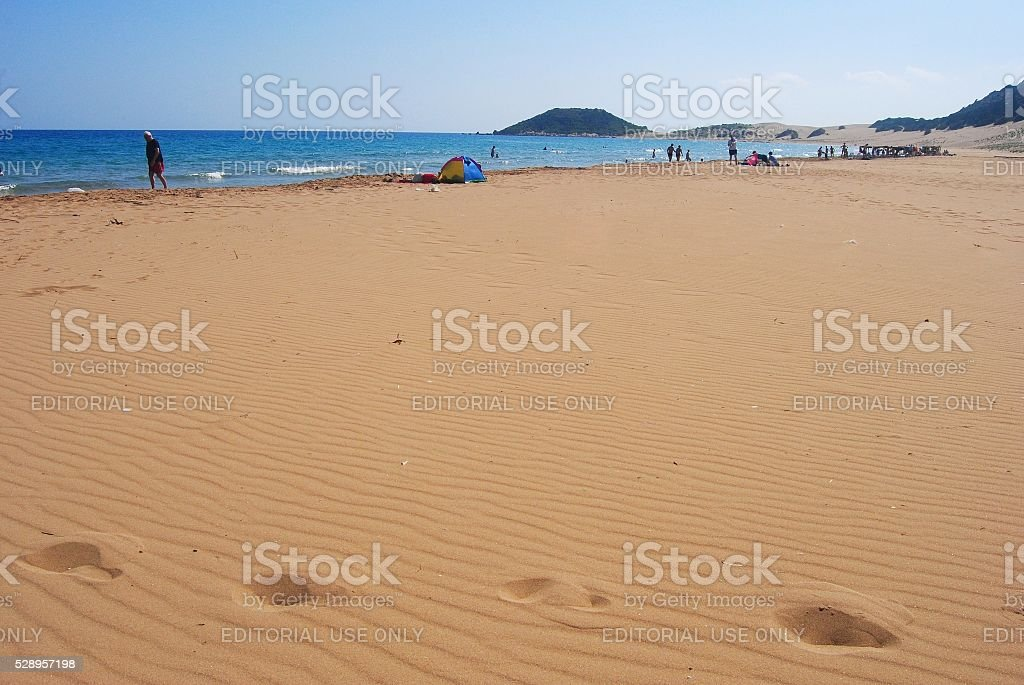 Golden beach in Cyprus stock photo
