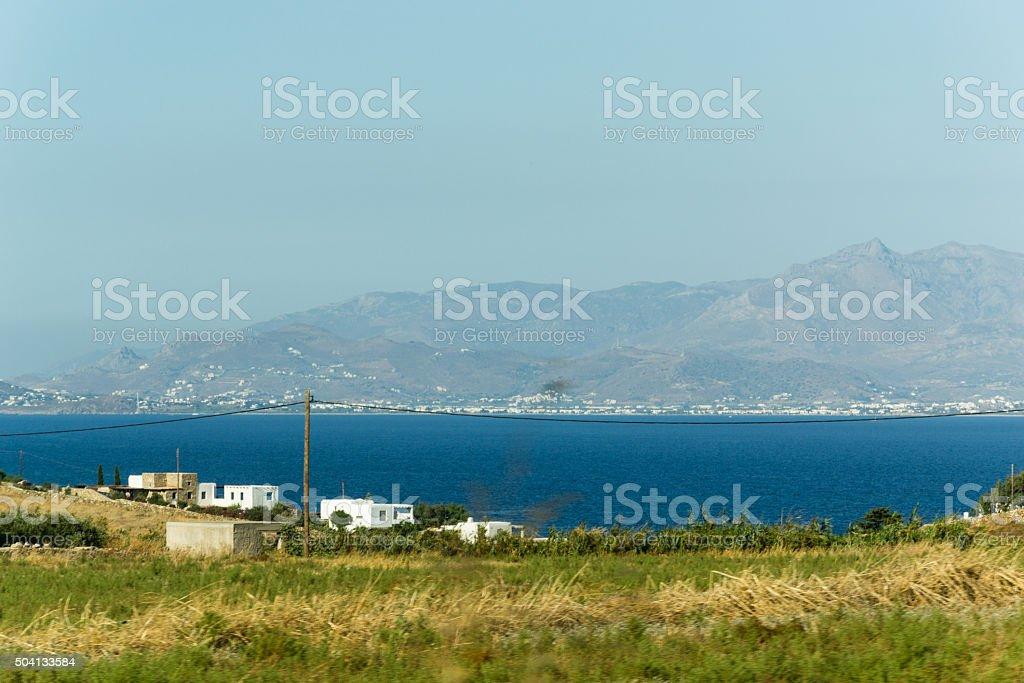 Golden beach in Paros Island - Greece stock photo