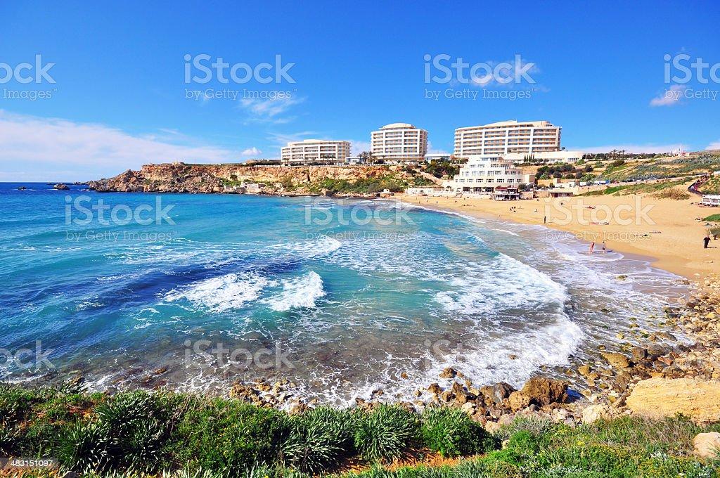 Golden Beach, Malta stock photo