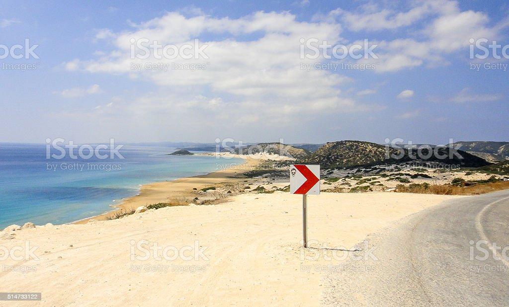 Golden beach of Northern Cyprus stock photo