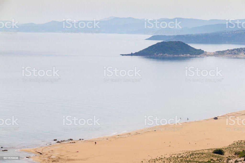 Golden beach or Turtle Beach in Karpasia, Island of Cyprus stock photo