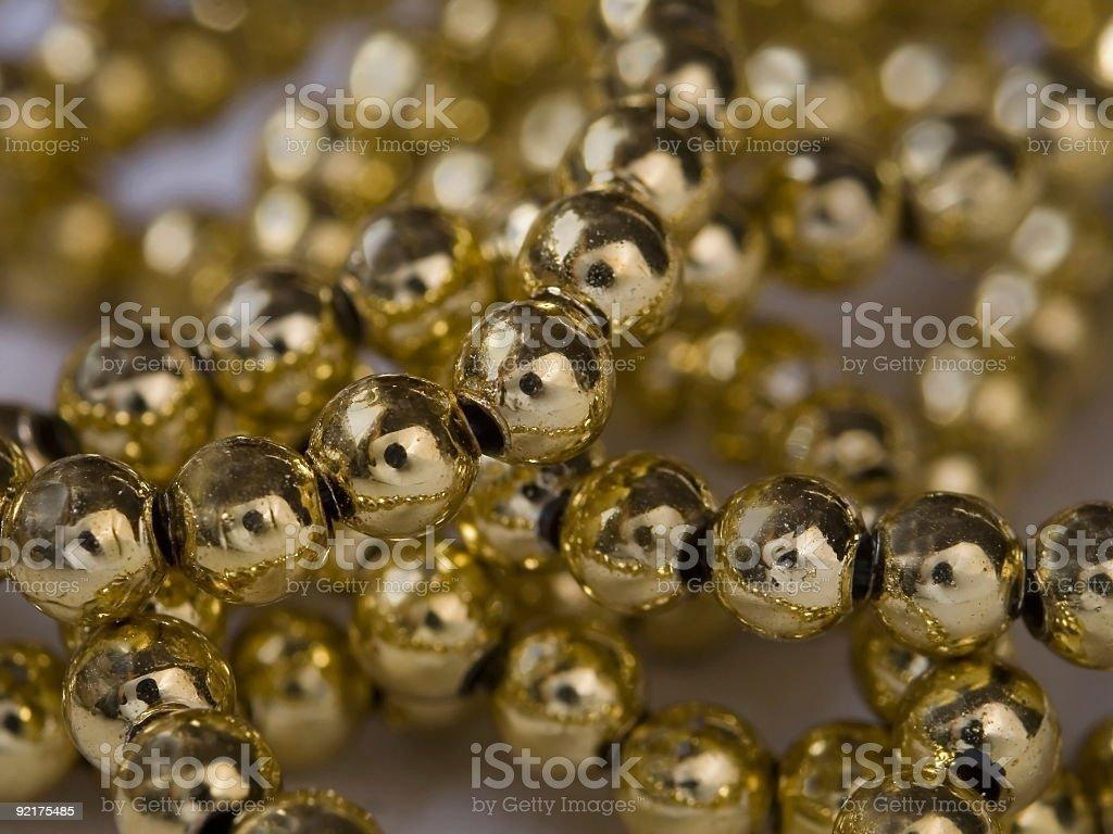 Golden Beads (Macro) royalty-free stock photo