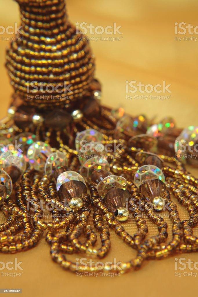 Golden Beads Series stock photo
