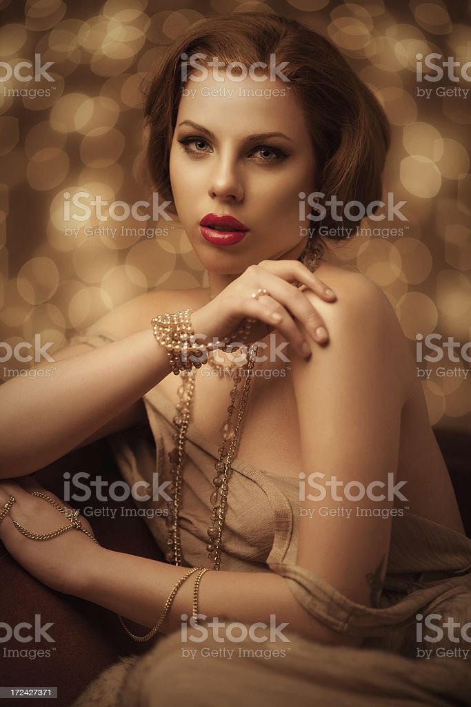 Golden beauty royalty-free stock photo