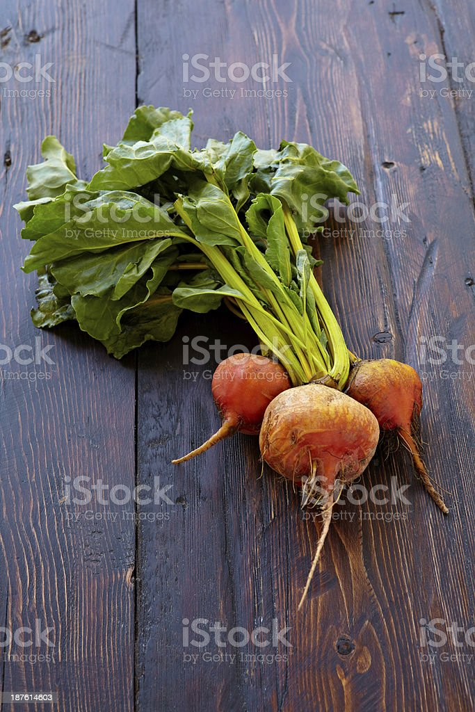 Golden Beets royalty-free stock photo