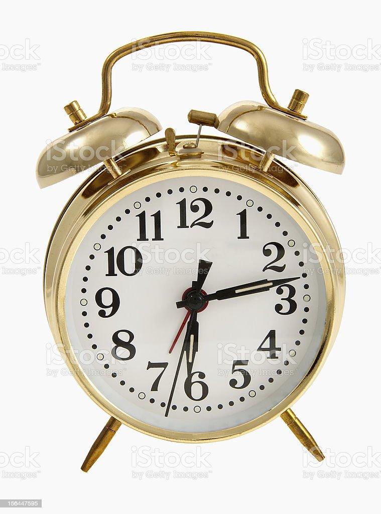 Golden Bell Alarm Clock royalty-free stock photo