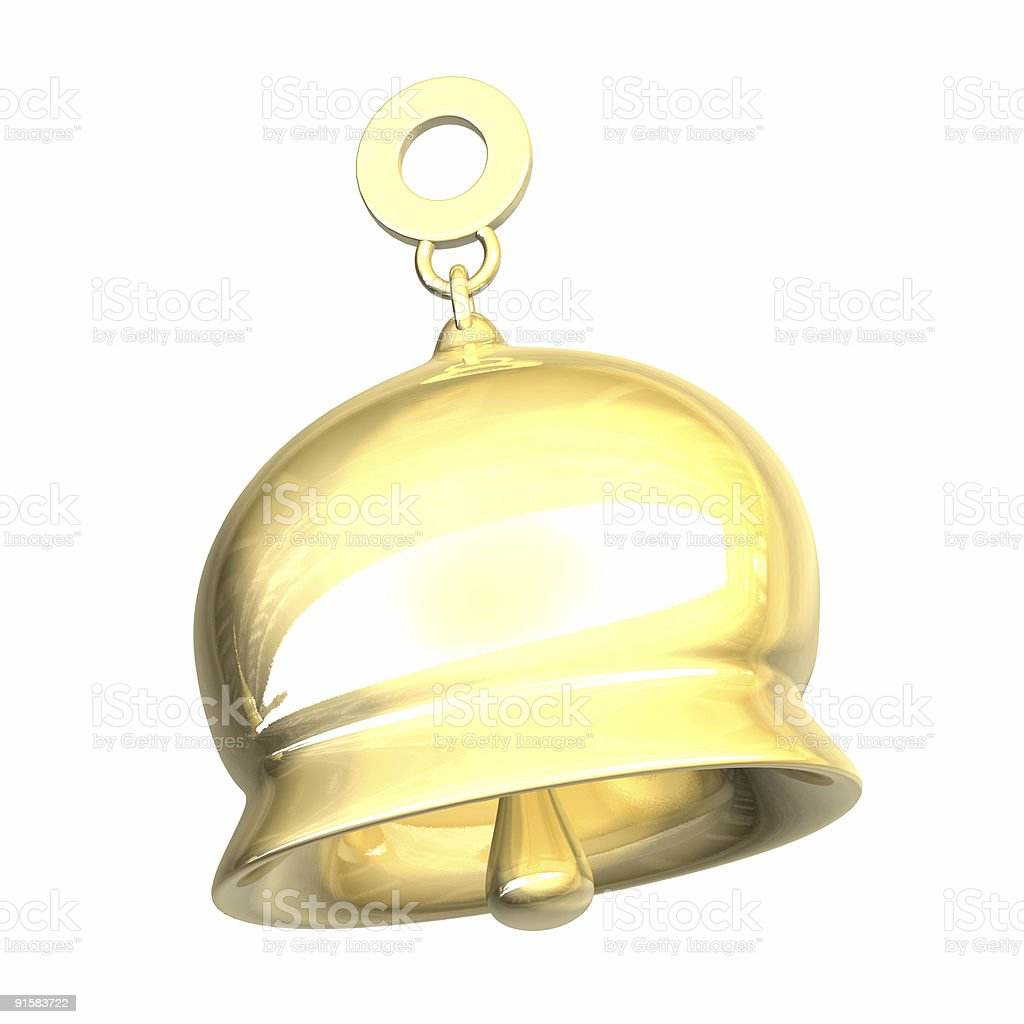 golden bell (3D) royalty-free stock photo