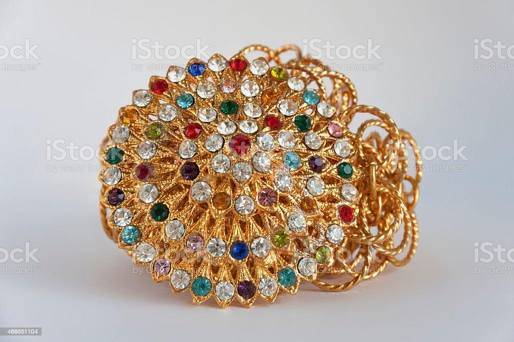 Golden belt design Thai style royalty-free stock photo