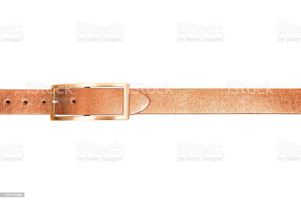 Golden belt, isolated on white background royalty-free stock photo