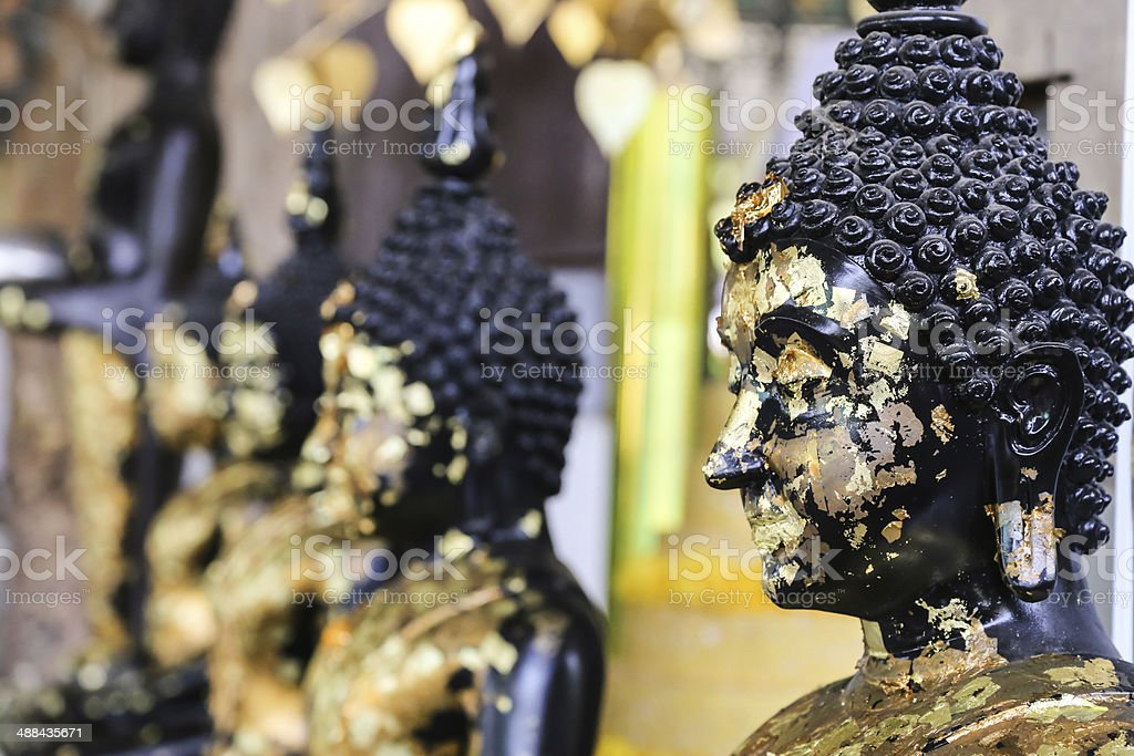 golden bhuda face royalty-free stock photo